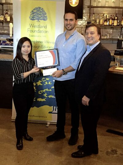 From left to right: Carmela Bianca Mayoralgo, Benjamin Nasberg, and John Prystanski are pictured at Carbone Coal Fired Pizza on Nov. 6. (PHOTO BY SIMON FULLER/CANSTAR NEWS/THE LANCE)