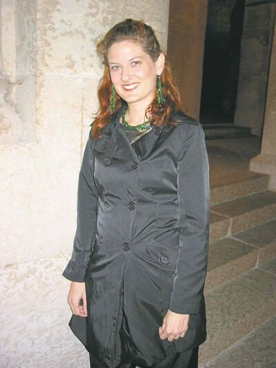 Chantal Vermette, co-ordinator of Cinemental 2014, at St. Boniface Cathedral, which is among the local landmarks featured in the festival's locally-made films.