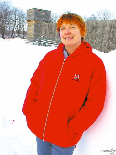 Karen San Filippo, volunteer co-ordinator at Festival du Voyageur, pictured at Fort Gibraltar.