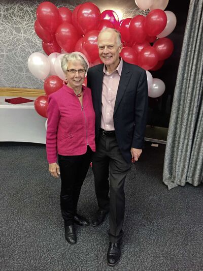 Jon Gerrard is pictured at the Manitoba Liberal Party headquarters, the Norwood Hotel, on election night with wife Naomi Oberholtzer.