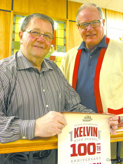 Jim Pappas (left) and Richard Bracken are looking forward to seeing many familiar faces at Kelvin High School's upcoming 100th anniversary reunion weekend.