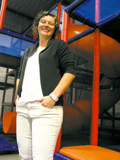 Deena Caplette, pictured at Kid City on Archibald Street, hopes community members will keep their voting fingers busy.