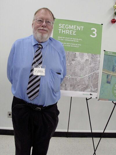 Provincial capital projects manager Don McRitchie is shown at the Dec. 11 open house at South Winnipeg Community Centre.