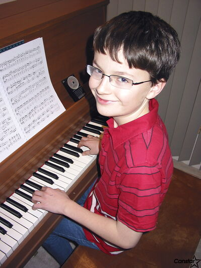 Graham Normand has been playing the piano for the past seven years.