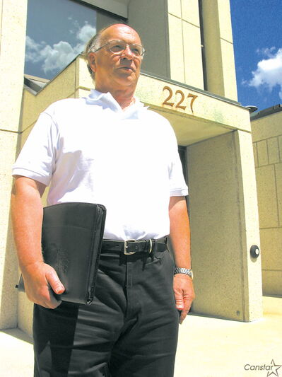 Walter Kleinschmit outside the former police station in St. Boniface, located at 227 Provencher Blvd.