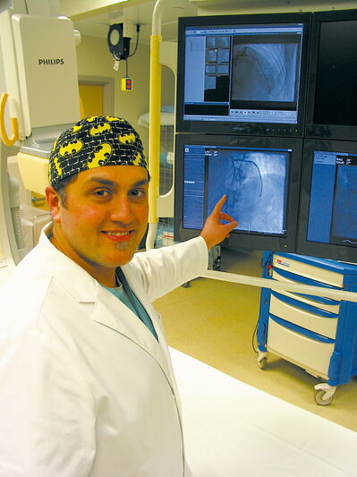 Interventional cardiologist Dr. Amir Ravandi at St. Boniface General Hospital.