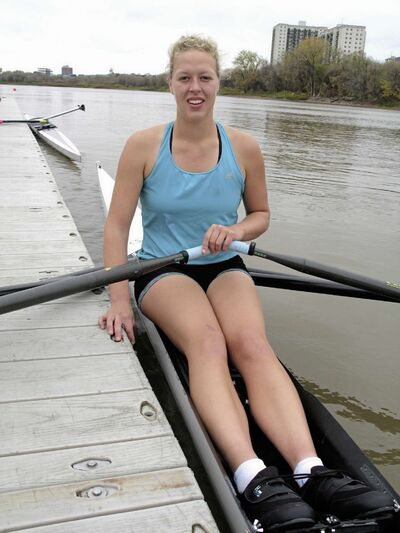 Rianne Boekhorst has only been rowing for a year, but is already hooked on the sport.