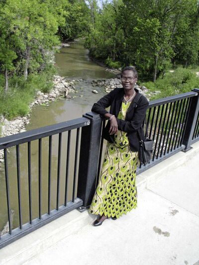 Elizabeth Aluk Andrea, the co-founder of the Manitoba Women 4 Women of South Sudan, said she feels blessed to have been able to raise her children in Canada. (SIMON FULLER/CANSTAR NEWS/THE LANCE)