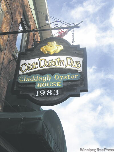 The Claddagh Oyster House in Charlottetown, where oysters (right) are their world