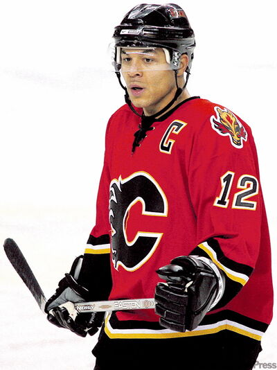 Flames  captain Jarome Iginla