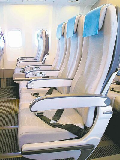 Slim-line seats weigh less but passengers are not fans.