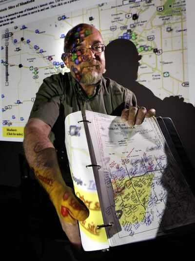 Gordon Goldsborough hopes his map brings attention to lesser-known historic sites.