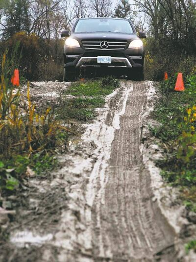 In addition to test drives on public roads and a closed track, journalist's can also hit the dirt in the latest SUV models.