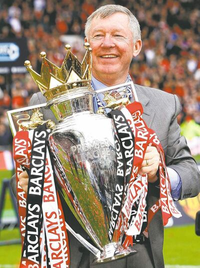 United manager Sir Alex Ferguson has won more than his fair share of trophies over the years.