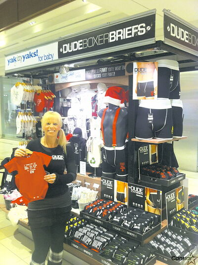 Entrepreneur Ingrid Kumpolt pictured at her kiosk in St. Vital Centre.