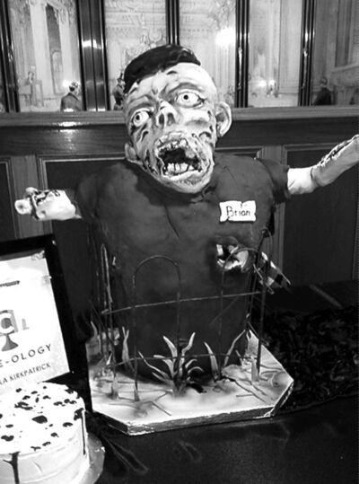 Zombie cake made by Cake-ology.
