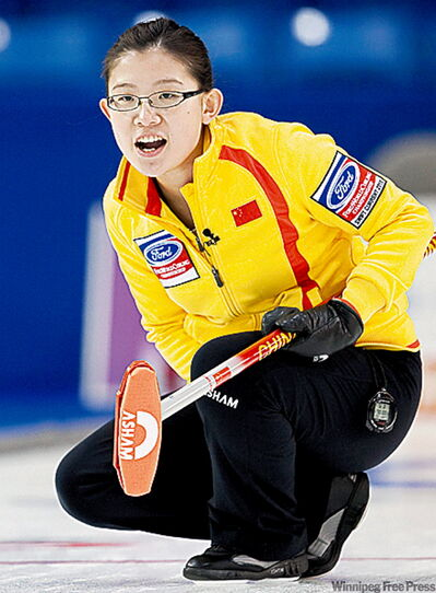China's Bingyu Wang almost knocked Canada from the unbeaten ranks.