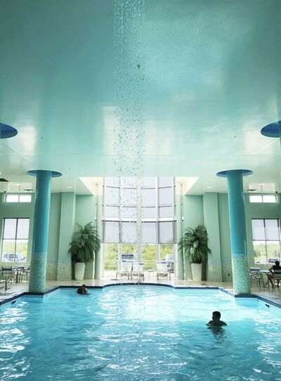 Travel Manitoba photo</p><p>Take a dip in the art deco inspired Tropical Pool at South Beach Casino in Brokenhead.</p></p>