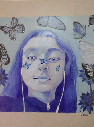 Serenity, by Xavier Lavergne, submitted to the online art show hosted by the Pembina Trails School Division.