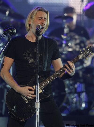 Chad Kroeger of Nickelback at the band's show at the MTS Centre.