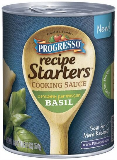 """This undated product image provided by General Mills Inc. shows the company's line of """"Progresso Recipe Starters"""". As more people try their hand at mimicking sophisticated recipes from cooking shows and blogs, food companies are rolling out meal kits and starters that make amateur chefs feel like Emeril Lagasse or Rachael Ray in the kitchen. (AP photo/General Mills)"""