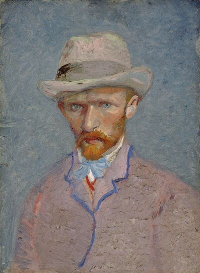 FILE - This June 21, 2011 file photo released by the Van Gogh Museum in Amsterdam, Netherlands, shows a self-portrait of Vincent van Gogh dated 1887. Experts at the Van Gogh Museum say Monday, Oct. 17, 2011, they remain unconvinced by evidence in a new biography published this week of Vincent Van Gogh by Steven Naifeh and Gregory White Smith that the 19th century Dutch artist was accidentally shot by two teenagers and did not die from self-inflicted wounds. (AP Photo/Van Gogh Museum, File) NO SALES, EDITORIAL USE ONLY