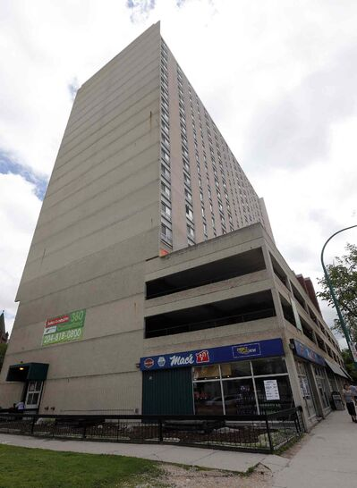 A Winnipeg man is recovering from a fall from a 9th floor apartment in the highrise building at 360 Cumberland Sunday night.