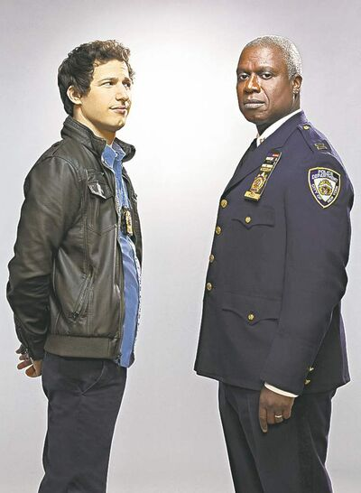 Andy Samberg, left, and Andre Braugher star in Brooklyn Nine-Nine.