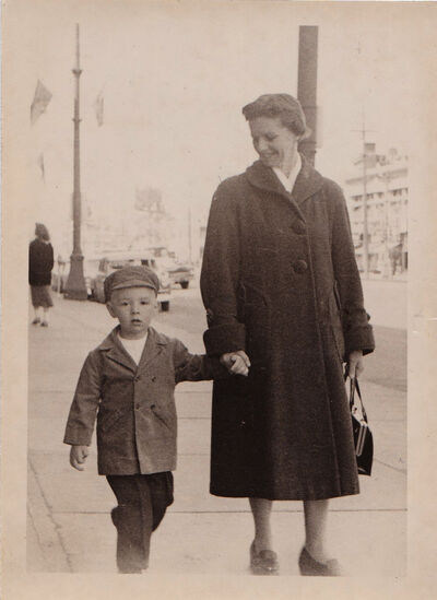 Alan and his mother, Ruth, in 1959