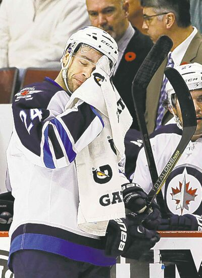 Nam Y. Huh / the associated press filesJets defenceman Grant Clitsome has played his last game of the season.