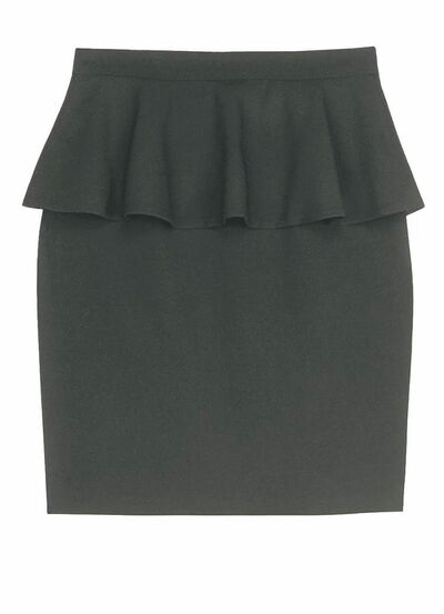 A black peplum skirt  from Jacob ($79)