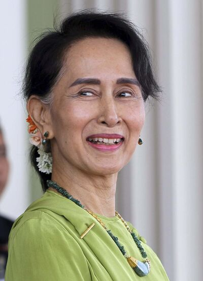 Associated Press Photo</p><p>Myanmar&rsquo;s State Counsellor Aung San Suu Kyi</p>