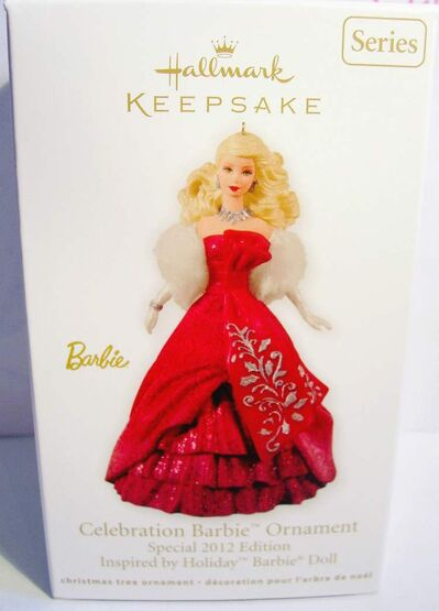 Special 2012 Edition Inspired by Holiday Barbie Doll will be the last Barbie Christmas ornament.