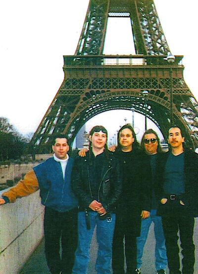 The band in 1998 included, from left, Steve Broadhurst, Jay Bodner, Vince Fontaine, Randy Booth and Wayne Stranger.