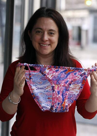 Rachel Starkey is from Calgary but lives in Egypt. She owns a textile factory that makes low-cost feminine hygiene underwear.