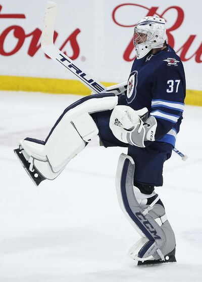 Connor Hellebuyck is one of three finalists for the Vezina Trophy, awarded to the NHL's top goaltender.