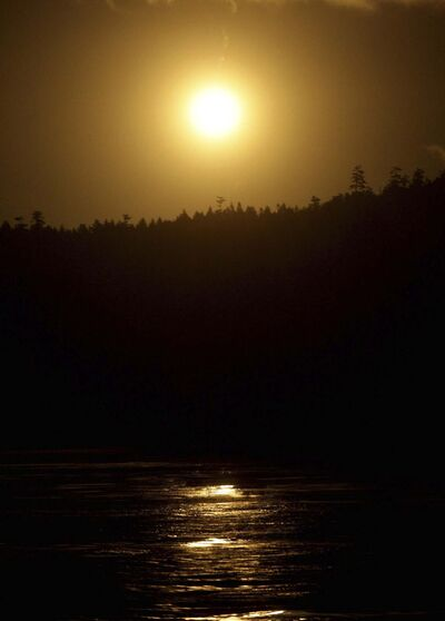 Darryl Dyck / The Canadian PressA</p><p>A flare is seen near Saturna Island, B.C.</p>