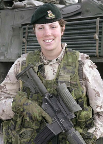 Capt. Nichola Goddard, of 1 RCHA at CFB Shilo, became the first Canadian woman killed in combat.