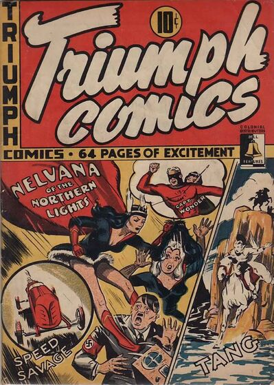 Nelvana was created by artist Adrien Dingle in 1941.