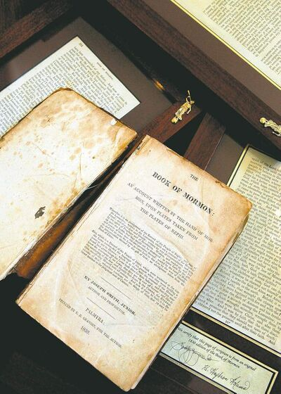 An 1830 first-edition Book of Mormon.
