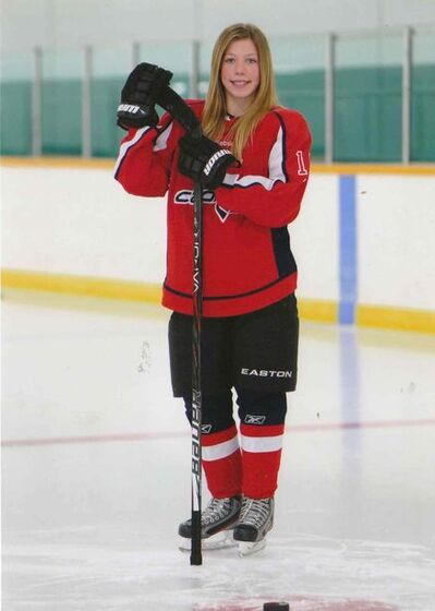 Everett Bestland and Adam Dufresne of the Pembina Valley AAA Bantam Hawks and Emily Upgang, Chelsea Hallson and Hannah Dalrymple of the Central Plains Female Capitals AAA Midgets will represent their region on the Central Plains hockey teams competing in the upcoming Manitoba Winter Games.
