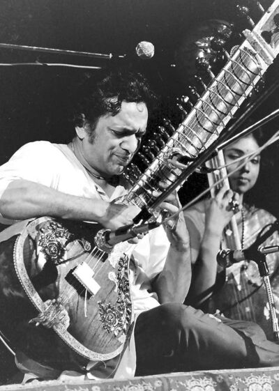 Ravi Shankar at Woodstock.
