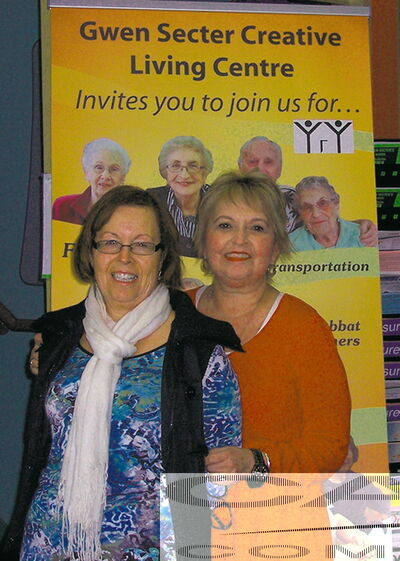 Gwen Secter Creative Living Centre director Marilyn Regiec and program/volunteer co-ordinator Elaine Stern.