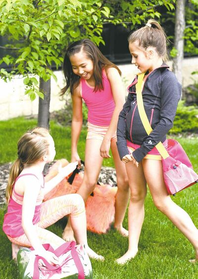 Triple Flip's line of activewear is designed with tweens in mind, with shorts, tanks and leggings in vivid colours.