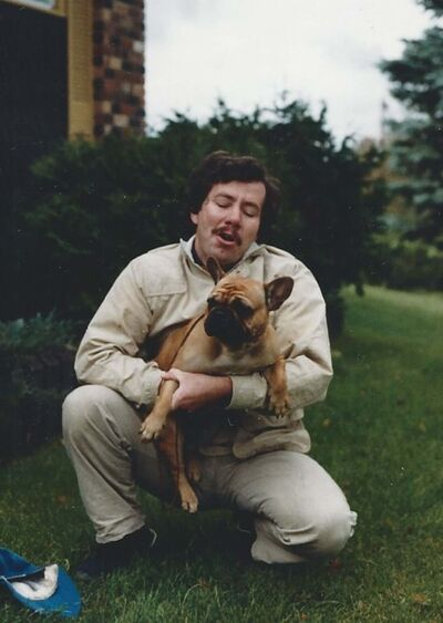 Submitted</p><p>Ronald Wilderman with his bulldog Cindy.</p>
