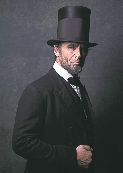 Billy Campbell as Abraham Lincoln.