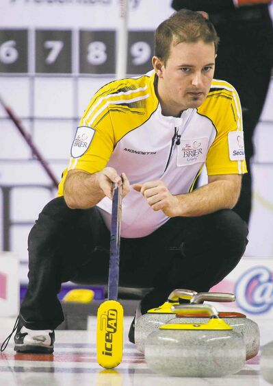 Manitoba skip Reid Carruthers went 4-7 during the Brier round robin.