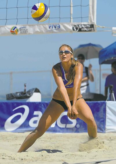 Taylor Pischke is taking her volleyball skills outdoors, where they may put her on the road to Rio
