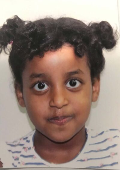 SUPPLIED</p><p>Four-year-old Galila. She and her mother, Genet, were struck by a vehicle at the crosswalk at Isabel and Alexander March 18.</p>