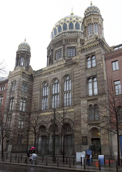 Berlin's New Synagogue, restored after it was bombed and then left for years in ruins, holds the story of the community that supported it before the November 1938 pogrom.